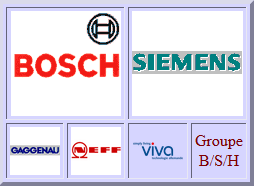 Bosch, Siemens, Constructa, Gaggenau, Neff, Viva